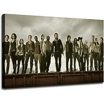 Art Silk Poster New The Walking Dead All Out War Season 8 Premiere Series Z-832
