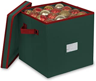 Best Primode Christmas Ornament Storage Box with 4 Trays, Holds Up to 64 Ornaments Decoration Balls, Holiday Storage Container with Dividers, Constructed of Durable 600D Oxford Material (Green) Review