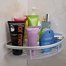 HOKIPO Magic Sticker Series Self-Adhesive Aluminium Bathroom Corner Shower Caddy (Silver)