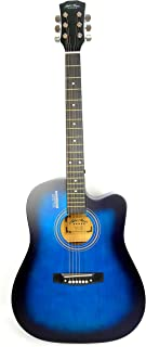 Mike Music 41 inch Acoustic Guitar with bag and strap (41, blue)