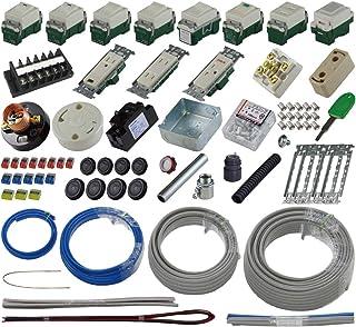 準備万端 (1回練習分) 第二種電気工事士技能試験練習用材料 「全13問分の器具?電線セット」