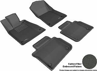 3D MAXpider Complete Set Custom Fit All-Weather Floor Mat for Select Lexus GS/ GS Hybrid Models - Kagu Rubber (Black)