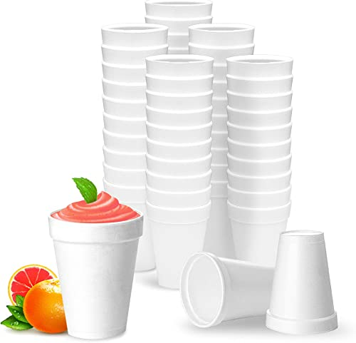 lowest 12 Oz Disposable high quality Styrofoam Cups (50 Pack), White Foam Cup Insulates Hot & online sale Cold Beverages, Made in the USA, To-Go Cups - for Coffee, Tea, Hot Cocoa, Soup, Broth, Smoothie, Soda, Juice sale