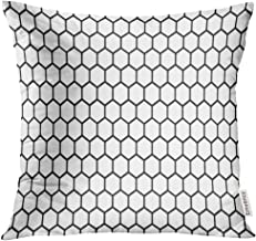 VANMI Throw Pillow Cover Modern Black and White Hexagon Honeycomb Pattern Abstract Bee Decorative Pillow Case Home Decor S...