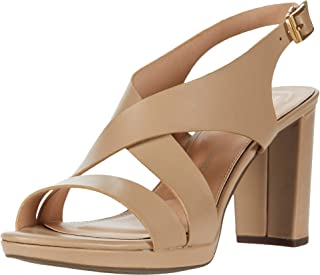 Rockport Women's Slide Heeled Sandal, NOUGAT, 5.5 Wide
