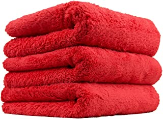 Chemical Guys MIC35103 Happy Ending Edgeless Microfiber Towel, Red (16 in. x 16 in.) (Pack of 3)