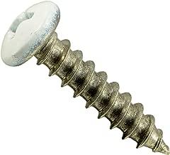 Hard-to-Find Fastener 014973208042 White Phillips Pan Sheet Metal Screws, 8 x 3/4, Piece-100