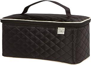 Ellis James Designs Large Travel Makeup Bag Organizer - Cosmetics Train Case Toiletry Bags for Women - Black - With Handle...