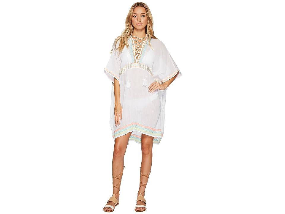 Vitamin A Swimwear Isabell Short Caftan Cover-Up (Las Brisas Gauze) Women