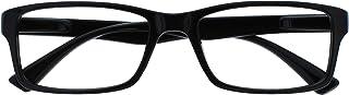 The Reading Glasses Company Zwarte lezers Designer Stijl Mens Womens UVR092BK +1.50
