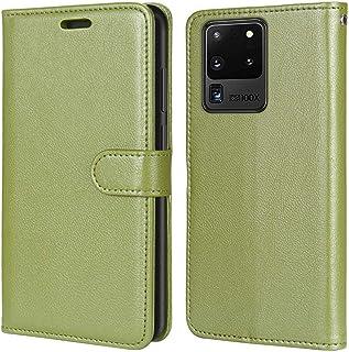 Laybomo Carcasa para Samsung Galaxy S20 Ultra Tapa Funda Cuero Estilo-Sencillo Monederos Billetera Bolsa Magnética Protect...