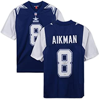 Troy Aikman Dallas Cowboys Autographed Blue Alternate Mitchell & Ness Authentic Jersey with