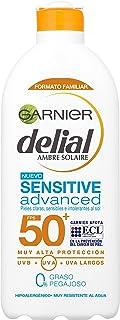 Garnier Delial Sensitive Advanced Leche Solar para Pieles Claras Sensibles e Intolerantes al Sol Alta Protección IP50+ -...