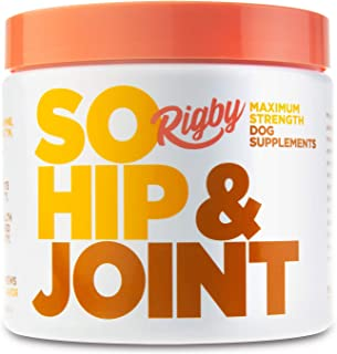 Rigby So Hip & Joint Advanced Glucosamine for Dogs - Supports Healthy Joints & Arthritis Relief w/Chondroitin, MSM, Turmeric, Hemp Oil + Green Lipped Mussel - Soft Chew Treats Made in USA - 90 Count