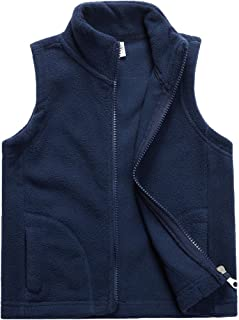 Sooxiwood Little Boys Fleece Vest Pocket Zipper