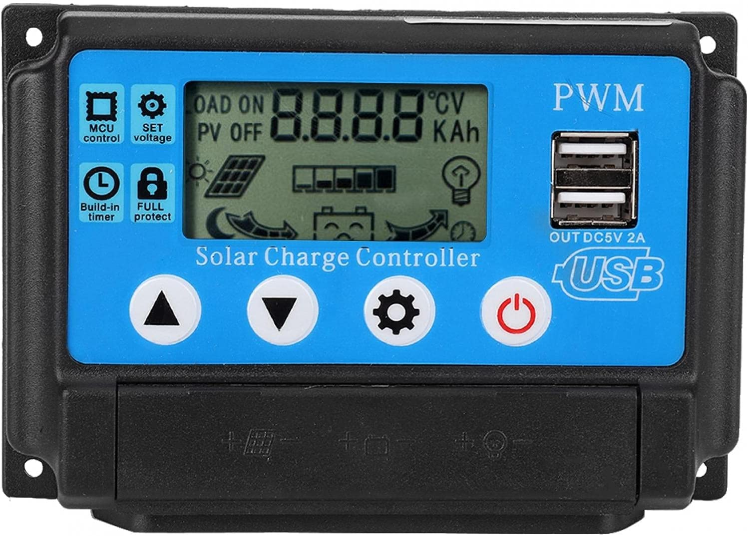 Industry No. 1 Akozon Topics on TV Solar Controller 12 Charge 24V Auto Aut