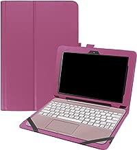 Asng ASUS Transformer Book T101HA Case, Premium PU Leather Portfolio Stand Cover Case for ASUS Transformer Book T101HA-C4-GR 10.1-Inch 2 in 1 Touchscreen Laptop (Purple)