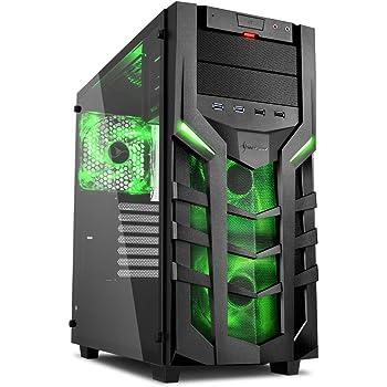 Sharkoon DG7000-G – Caja de Ordenador, PC Gaming, Semitorre ATX, Negro/Verde: Sharkoon: Amazon.es: Informática
