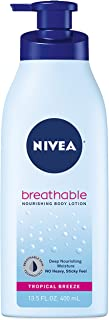 NIVEA Breathable Nourishing Body Lotion Tropical Breeze No Sticky Feel, Normal To Dry Skin, 13.5 Oz, 1 Count