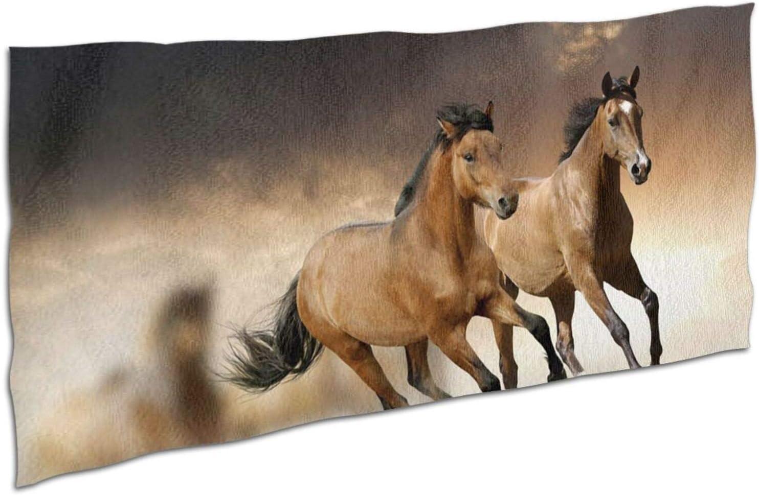 Trust Running Horse Bath Towel Max 64% OFF Microfiber Beach Soft Towels Skin-Frien