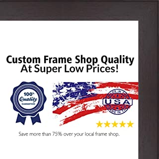 Poster Palooza 30x40 Rustic Cappuccino Wood Picture Frame - Complete with Frame Grade Acrylic, Backing, and Hardware