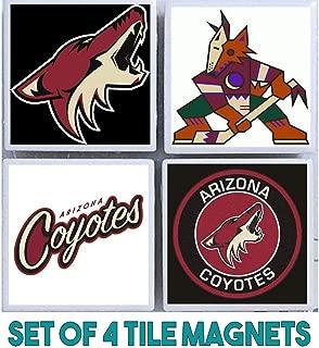 Arizona Magnets : Set of 4 Tile Magnets : hockey