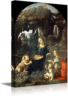 wall26 - Virgin of The Rocks by Leonardo da Vinci - Canvas Print Wall Art Famous Oil Painting Reproduction - 24