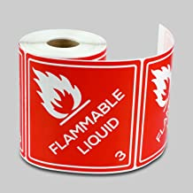 24 Width Brady 60271 7 Height B-302 High Performance Polyester Legend Flammable Keep Fire Away Red On Yellow Color Cabinet Labels