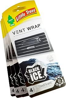 Little Trees Vent Wrap Air Freshener 4-Packs  Car Air Freshner (Black Ice)
