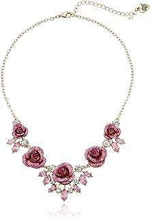 Women's Glitter Rose Necklace Rose