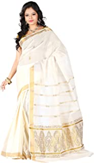 e-VASTRAM Cotton with Blouse Piece Saree
