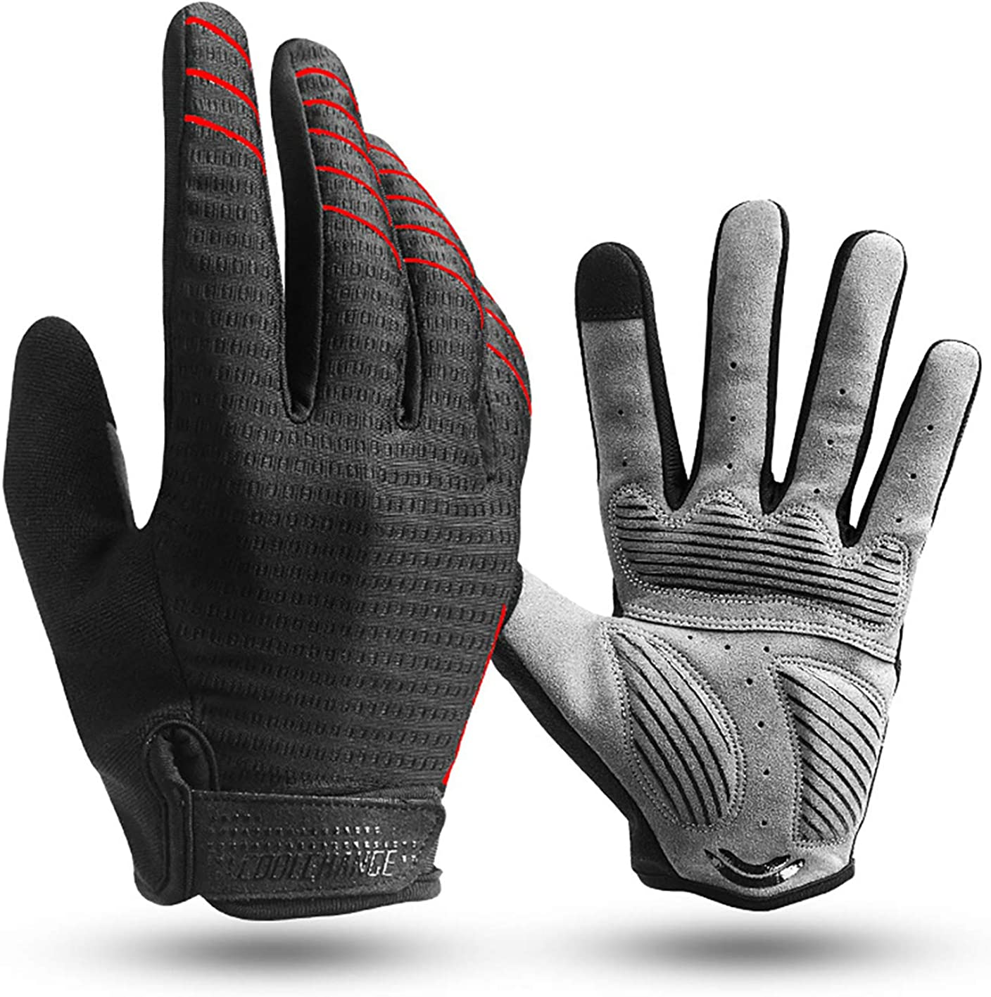 JOGVELO Cycling Gloves Full Finger Max 84% Bombing free shipping OFF Glo Touch Bike Bicycle Screen