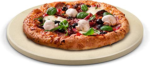 Cook N Home 02661 Pizza Grilling Baking Stone 16-inch round x 5/8-inch thick 02662