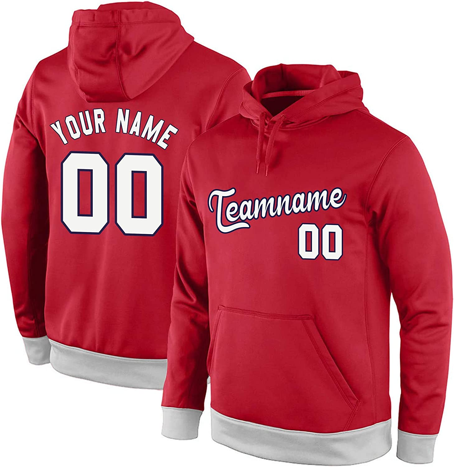 Custom Football Hoodie for Free shipping anywhere in the nation Men Youth Pers Add Your Number Name Boston Mall