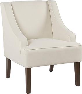 HomePop Swoop Arm Accent Chair, Cream