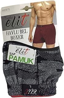 Tutku İç Giyim Elit Erkek Havlubel Desenli Boxer Külot İç Çamaşır