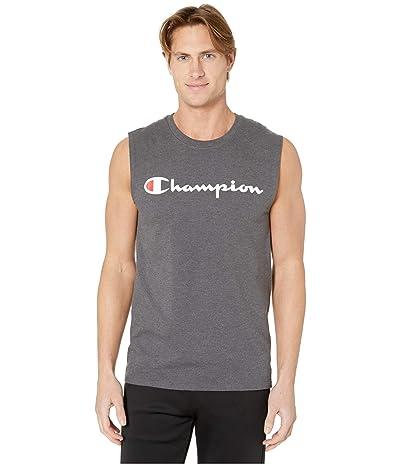 Champion Classic Jersey Graphic Muscle Tee (Granite) Men