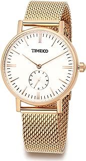 Time100 Men Women Couple Light and Matte Wrist Watches,Mesh Band Ultrathin Case Dial Quartz Watch