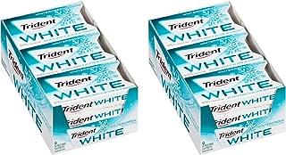 Trident White Sugar Free Gum (Wintergreen, 16 Piece, 9 Pack)(2 Pack)