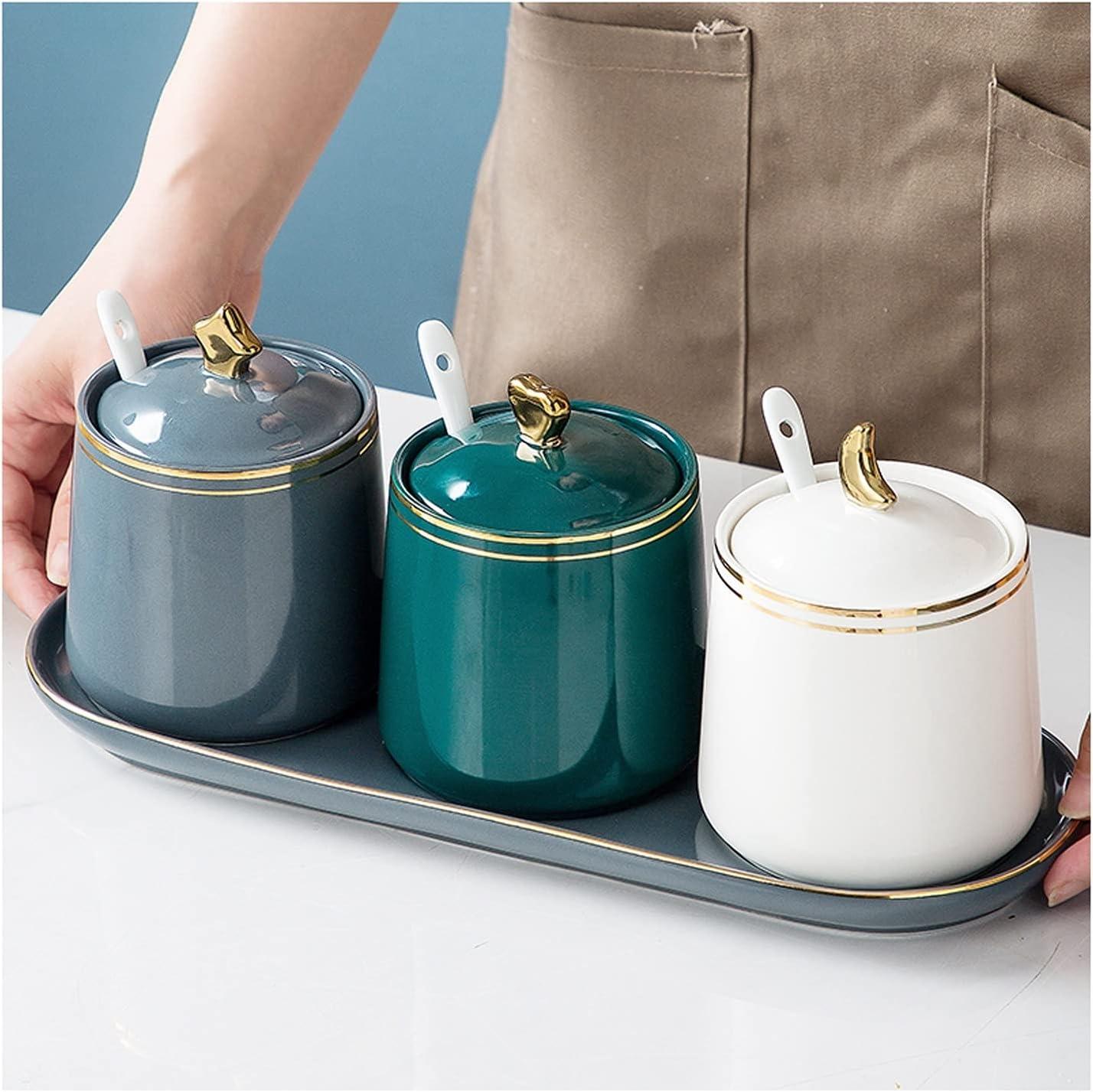 Ranking TOP3 Condiment Jar Spice Container Max 77% OFF Ceramic Sugar Pots Bowls