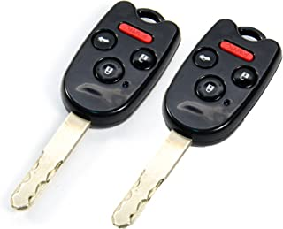 STAUBER Honda Key Shell for Accord, Ridgeline, Civic, and CR-V/NO Locksmith Required Using Your Old Key and chip! 2 Pack (...