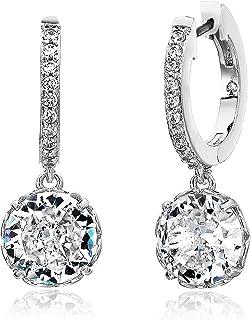 Women's Pave Huggie Earrings