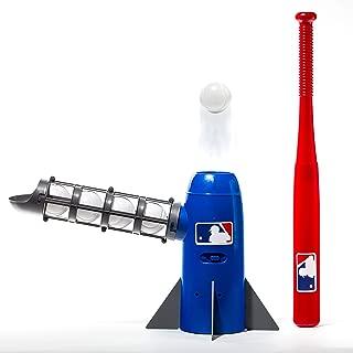 Franklin Sports MLB Kids Pitching Machine - POP ROCKET Kids Baseball Trainer - Includes 5 Plastic Baseballs & Baseball Bat