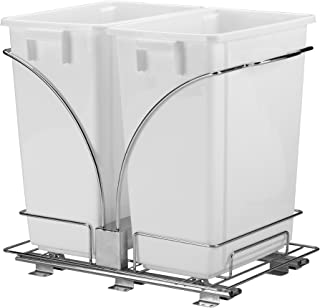 Household Essentials C21247-1 Under Cabinet Double Sliding Trash Can Caddy   9-Gallon