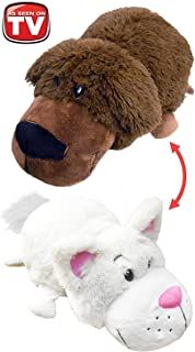 """Best Original - 1 Pack - FlipaZoo 16"""" Plush 2-in-1 Pillow - Chocolate Labrador Transforming To White Cat (the Toy that Flips for you) Review"""