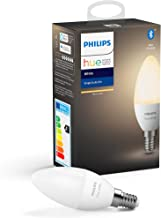 Philips Hue Kaarslamp 1-Pack - E14 - Duurzame LED Verlichting - Warmwit Licht - Dimbaar - Verbind met Bluetooth of Hue Bri...