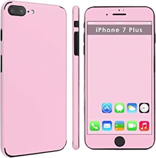 """iPhone [7 Plus] [7S Plus] Full Body Edge to Edge Skin Decal [Easy Apply] [No Bubbles Air Release] - [Baby Pink] for iPhone [7 Plus] [5.5"""" Screen]"""