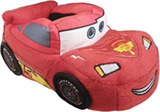 Disney Cars Lightning McQueen Toddler Boys Glow in The Dark Slippers House Shoes