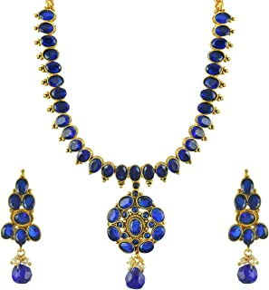 Bridal Wedding with Earrings White Copper Necklace Set Jewellery Sets for Women