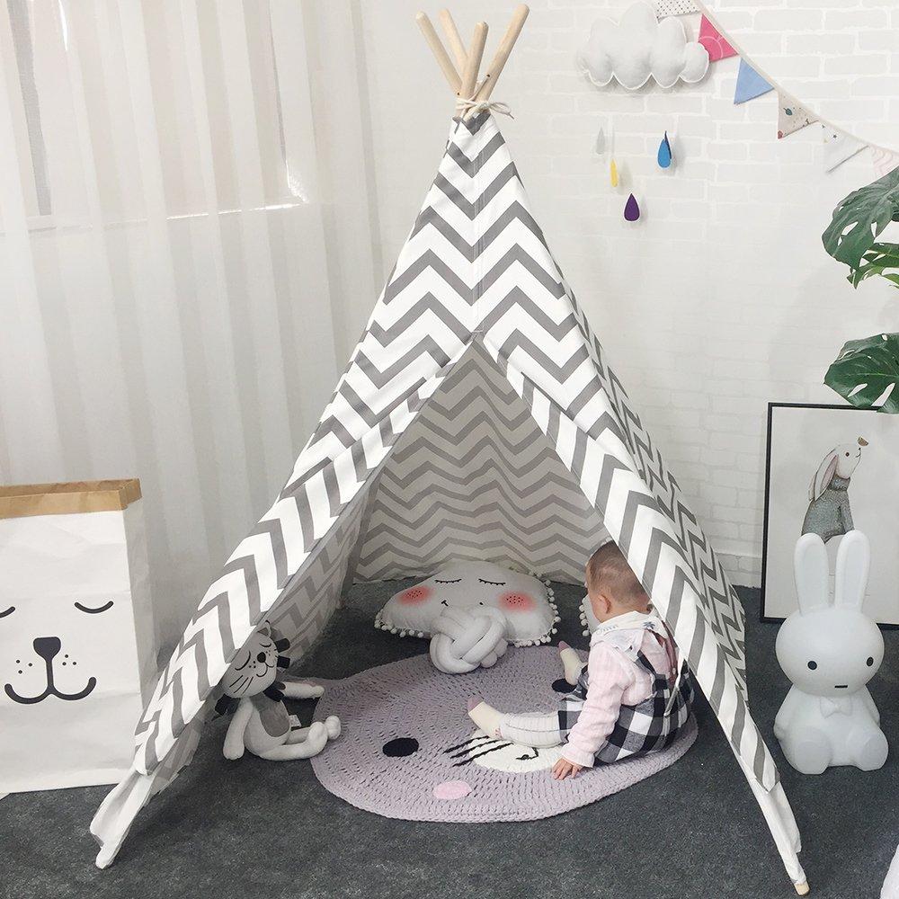 Lebze Tipi Spielzelt für Kinder Baumwolle Segeltuch